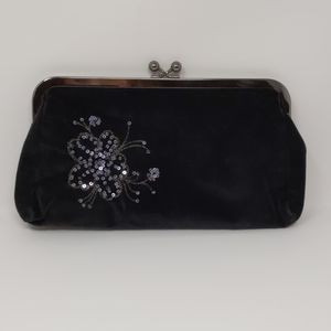 Express clutch handbag purse velvet sequins New